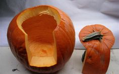 Instead of trying to make a perfectly round circle only in the top, cut a small rectangular on the side of the pumpkin as well. It makes it easier to carve, empty and place candle in