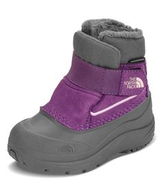The North Face Little Girls' Toddler Alpenglow Winter Boot - dark gull grey