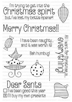 Clearly Besotted LAUGH OUT LOUD CHRISTMAS Clear Stamp Set  zoom image