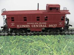 Illinois Central Caboose  HO Model Train Box Car by thevintageshop, $14.95