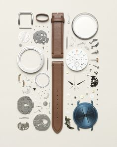 A disassembled wristwatch Art Beat, Watches Photography, Photography Camera, Smiths Watch, Watch Drawing, Things Organized Neatly, Coming Apart, Industrial Design Sketch, Tattoo