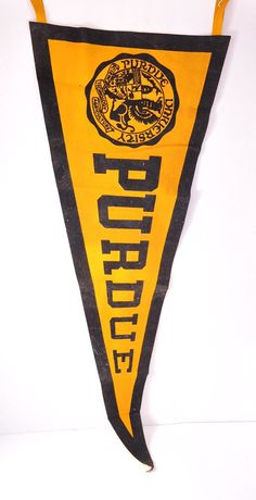 Vintage, 1940s Purdue pennant from Just Vintage on Etsy $17.00