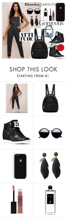 """All in one"" by sanidaskrebo ❤ liked on Polyvore featuring STELLA McCARTNEY, MICHAEL Michael Kors, Maybelline, Serge Lutens and sleevelessjumpsuits"