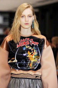 Balenciaga Fall 2012, Trend Report - Special FX. Ironic Sci Fi: Nicolas Ghesquière satisfies our inner trekkie with galactic prints and nonsensical quips.
