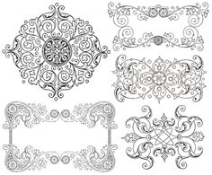 Free Vintage Ornament Border Frames Graphics