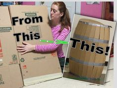 DIY Barrel Made from Cardboard Box! Easy Tutorial - YouTube