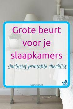 Grote beurt voor je slaapkamers. Onderdeel van de Voorjaars-Challenge. Deel 1 van 10. Meedoen? Ga naar waarismam.nl