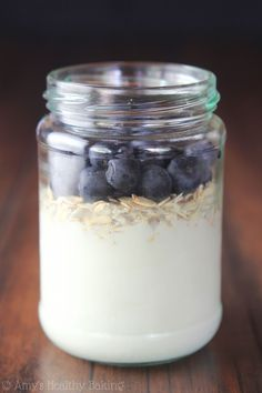 Blueberry Pie Protein Overnight Oats