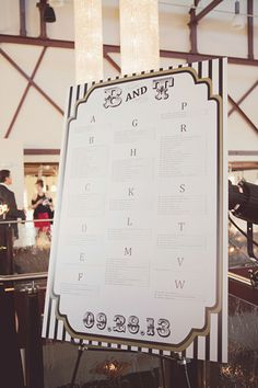 circus inspired seating chart, photo by Maria Mack http://ruffledblog.com/pennsylvania-circus-inspired-wedding #seatingchart #weddingideas #circus