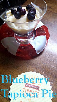 Delicious Blueberry Tapioca Pie for National Tapioca Pudding Day