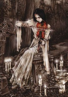 Curiouser and Curiouser victorian goth: Victorian goth Gothic fantasy art Victoria frances Gothic art