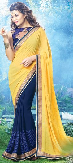 153525: Another #saree modeled by actress #JacquelineFernandez  #Bollywood #Partywear #Sale #Onlineshopping