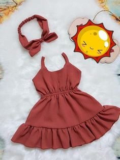 Vestidos - Everything For Babies Kids Dress Wear, Dresses Kids Girl, Little Girl Outfits, Cute Outfits, Fashion Kids, Baby Girl Fashion, Baby Girl Dress Patterns, Baby Dress Design, Kids Frocks