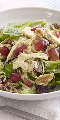 Simple salads  - These crisp and cool chicken salads have a refreshing combination of ingredients to satisfy your taste buds while giving you the nutrition you need.