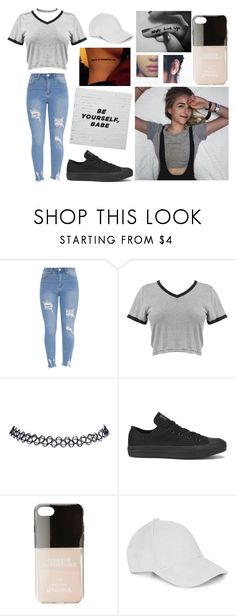 """""""i would lie and say that you're not on my mind"""" by jayseee ❤ liked on Polyvore featuring Wet Seal, Converse and Iphoria"""