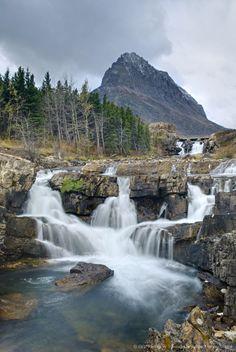 Swiftcurrent Falls Glacier National Park, Montana.