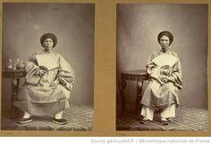 Ambassade Cochinchinoise à Paris. 1863. Kieu, 32 ans. Annamite né à Saïgon. 2ème lettré. En costume. Ambassade Cochinchinoise à Paris. 1863. Phan-hûn-do. 31 ans. Annamite de la province de Gambinh (Annam). 7ème secrétaire du ministère de