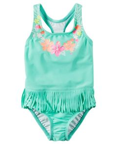 272b2627fa Baby Girl Carter's Floral Fringe Swimsuit from Carters.com. Shop clothing  & accessories