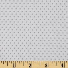 Riley Blake Willow Dot White/Grey - Discount Designer Fabric - Fabric.com