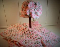 Layette Gift Set for Baby Girl Receiving by QueenBsBusyWork