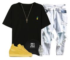 """""""Untitled #134"""" by renee-no-lovee-green ❤ liked on Polyvore featuring Puma, Rolex and Gucci"""