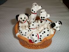 101 Dalmatians Music Box Good Condition Walt Disney Co Play-Mates Vintage Schmid