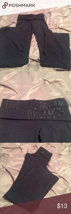 Aerpostal Yoga Pants Yoga Pants - LIVE LOVE DREAM - Great Condition boot cut bottoms Aeropostale Pants Boot Cut & Flare