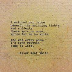 New to TylerKentWhite on Etsy: Every Poem Come to Life Typewriter Poem by Tyler Kent White (14.00 USD)