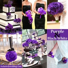 Wedding Planning Black and White Wedding Colors – Seven Glorious Combinations Wedding Themes, Our Wedding, Dream Wedding, Wedding Decorations, Wedding Quotes, Wedding Stuff, Purple Black Wedding, Purple And Black, Black White