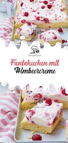 Fantakuchen mit Himbeercreme Fantasy cake with raspberry cream Rezepte: Kuchen & Torten Italian Cookie Recipes, Italian Cookies, Italian Desserts, Raspberry Desserts, Fancy Desserts, Fancy Cakes, Raspberry Sauce, Cupcake Recipes, Snack Recipes