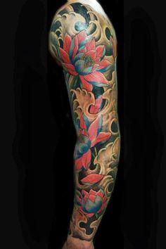 colorful sleeve tattoos | tattoos | Pinterest | Colorful sleeve ...