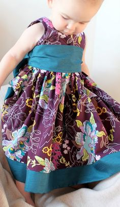 The Party Dress. pattern tutorial link, for toddler and little girls. Pretty party dress for my granddaughters.