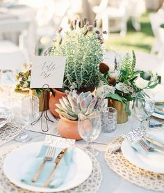 Botanical Succulent Wedding Centerpiece / http://www.himisspuff.com/succulent-wedding-decor-ideas/3/