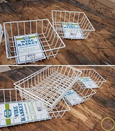 Hometalk | Ideas for Using industrial Wire Basket in The Home from the dollar store