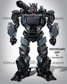 Soundwave Full Body Design by *timshinn73