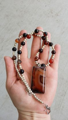 Handmade Dream Agate necklace Trade or sale $30