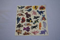 Vintage 1990's - TY Beanie Babies Sticker Sheet #2 by TheMercerStreetHouse on Etsy