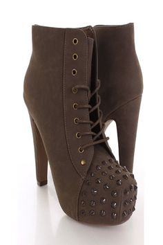 studs boots - love the color, love the material, really really love the studs XD