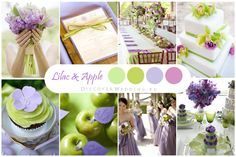 Lilac and Light Green Wedding Palette