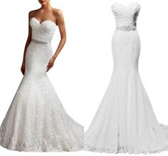 Find More Wedding Dresses Information about Real Pictures Cheap Women's Beaded Pleat Lace Wedding Dress Mermaid Bridal Dress with Sash Plus size Custom Made,High Quality dress with long sleeve,China dress gala Suppliers, Cheap dress outline from Ayaya Dress Shop on Aliexpress.com