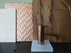 Moodboard copper and old wood Old Wood, Best Interior, Door Handles, Wall Lights, Copper, Interiors, Home Decor, Nice Asses, Door Knobs