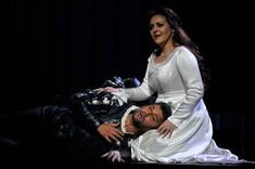 Jonas Kaufmann as Otello and Maria Agresta as Desdemona in the Royal Opera's production of Giuseppe Verdi's Othello directed by Keith Warner and conducted by Antonio Pappano at The Royal Opera House on June 17, 2017 in London, England.