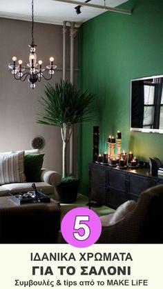 Living Room Paint Color Ideas Green Apartment Therapy 47 Ideas For 2019 Green Living Room Paint, Living Room Small, Living Room Color Schemes, Living Room White, Green Rooms, Living Room Colors, Living Room Interior, Living Rooms, Green Walls