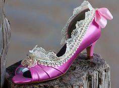 Marie Antoinette wedding shoes Swarovski by TheCrystalSlipper