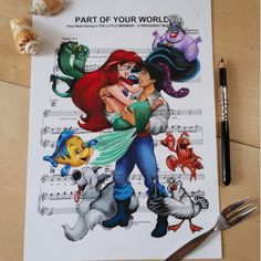 Part Of Your World [feat. Ariel as a mermaid, Eric, Ursula, Flotsam, Jetsam, Flounder, Max, Scuttle & Sebastian] (Music by DoughtyCreARTive @Instagram) #TheLittleMermaid