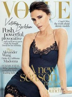 Victoria Beckham Vogue Magazine Cover [Australia] (September 2013)