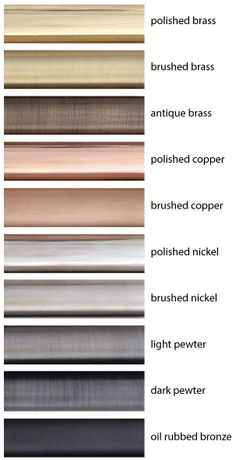 Metal-Finishes