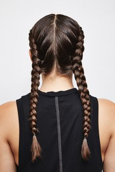 Double Dutch French braids
