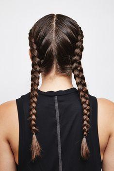 Double Dutch French braids
