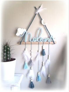 Macrame Wall Hanging Patterns, Macrame Patterns, Baby Room Diy, Baby Room Decor, Diy Crafts For Gifts, Diy Home Crafts, Dream Catcher Decor, Diy Bebe, Boutique Decor